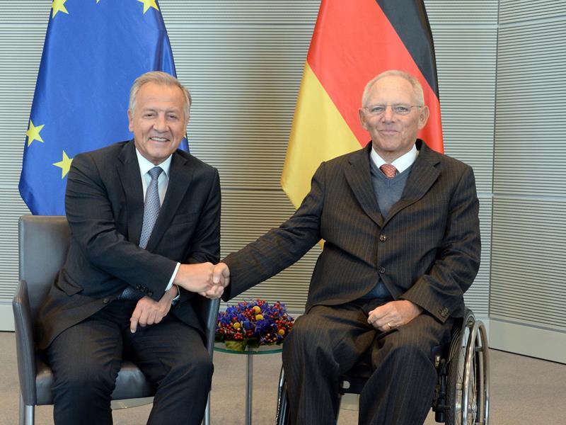 Landtagspräsident Albert Frick und Bundestagspräsident Dr. Wolfgang Schäuble