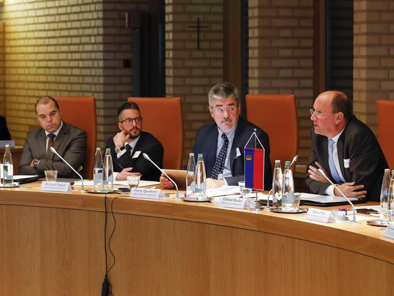 Die liechtensteinischen Abgeordneten an der Konferenz (Foto: Paul Trummer)