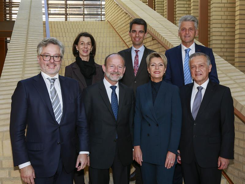 Ständeratspräsidentin Karin-Keller Sutter und Nationalratspräsident Dominique de Buman in Vaduz