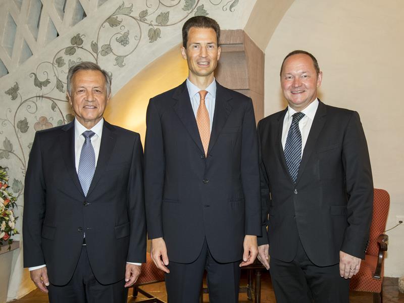 Nationalratspräsident Jürg Stahl besucht Landtagspräsident Albert Frick