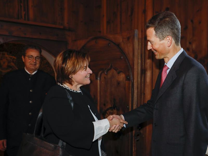 Albert Frick empfängt eidgenössische Ratspräsidenten in Vaduz