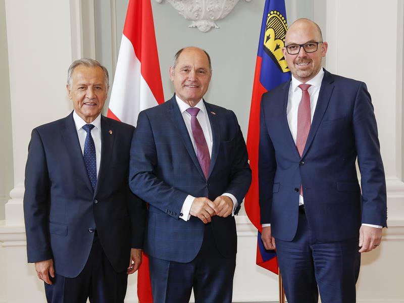 Österreichs Nationalratspräsident Wolfgang Sobotka besucht Landtagspräsident Albert Frick